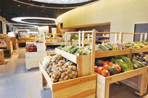 新設した農産物直売コーナー