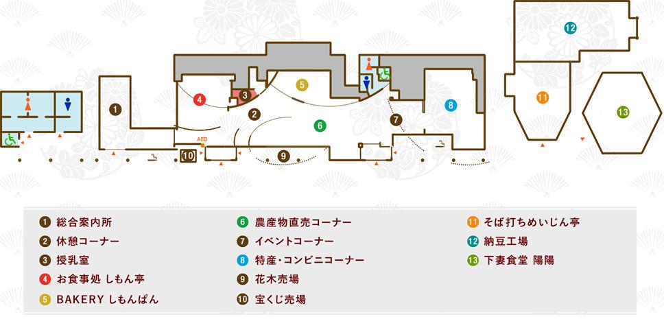 道の駅しもつま 施設案内マップ(NEW)