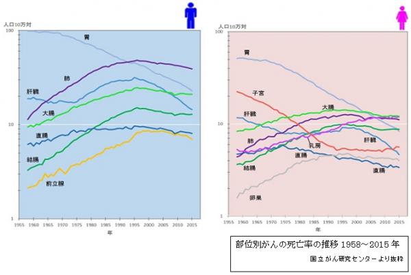 がん部位別死亡率