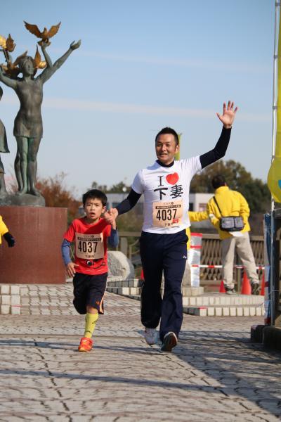 H26砂沼マラソン親子その2
