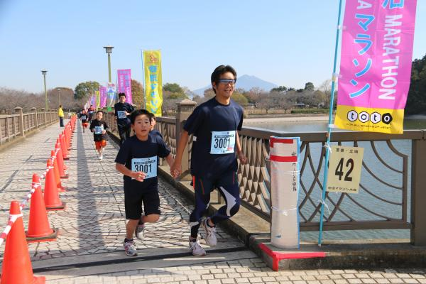 H26砂沼マラソン親子その1