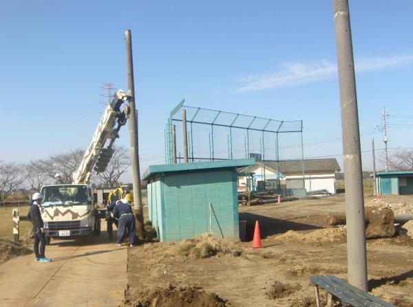 柳原球場工事開始写真