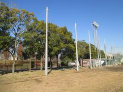 防球ネット建柱