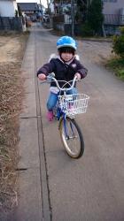 自転車練習中~♪