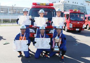 第69回茨城県消防ポンプ操法競技大会県西地区大会優勝